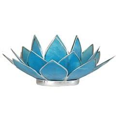 Lotusbloem sfeerlicht turquoise/zilver