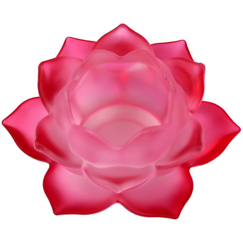 Sfeerlicht Lotusbloem glas Rood