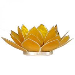 Lotusbloem sfeerlicht geel/zilver