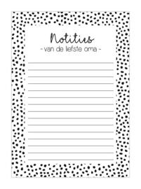 NOTITIEBLOK A6 | Liefste oma