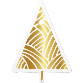 CADEAULABEL |  Kerstboom (2 stuks)