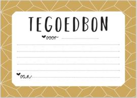 KAART TEGOEDBON | Invulkaart