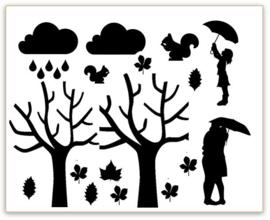 RAAMSTICKERS   Uitbreiding Herfst