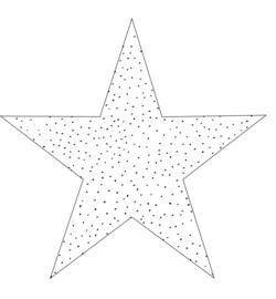 STER | Wit met dots (20 cm)