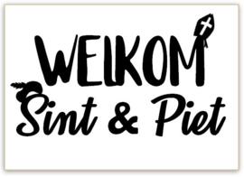 RAAMSTICKERS   Welkom Sint & Piet