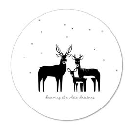 Wooncirkel | Herten in de sneeuw