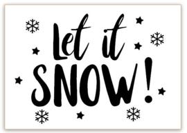 RAAMSTICKERS   Let it snow..