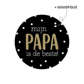 STICKER | Mijn papa is de beste (5 stuks)