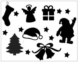 RAAMSTICKERS   Decoratie kerst