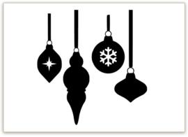 RAAMSTICKERS   Kerstballen uitbreiding
