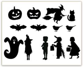 RAAMSTICKERS   Uitbreiding Halloween