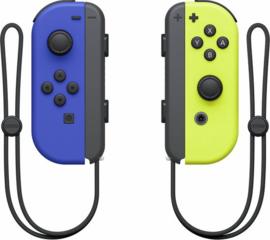 Joy Con controllers Blauw & Neon Geel