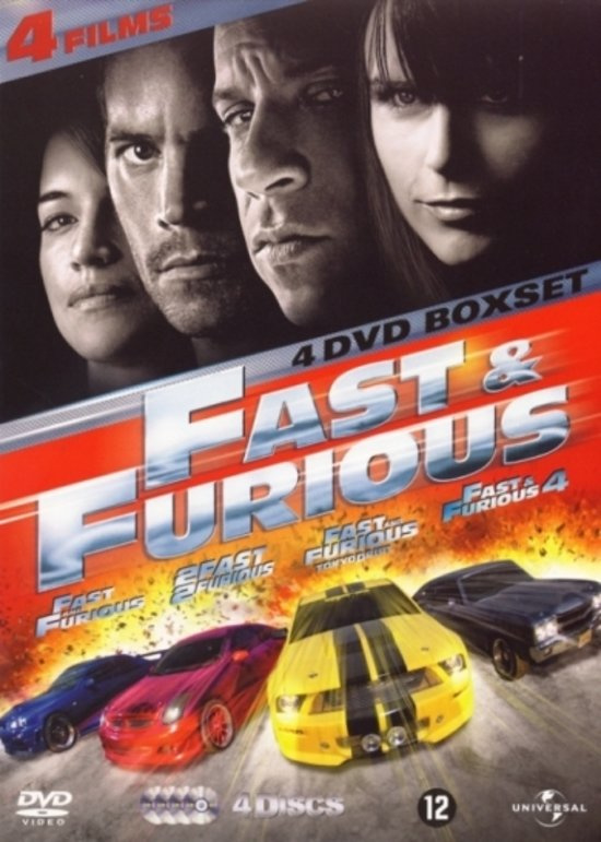 Fast & Furious - 1, 2, 3 & 4