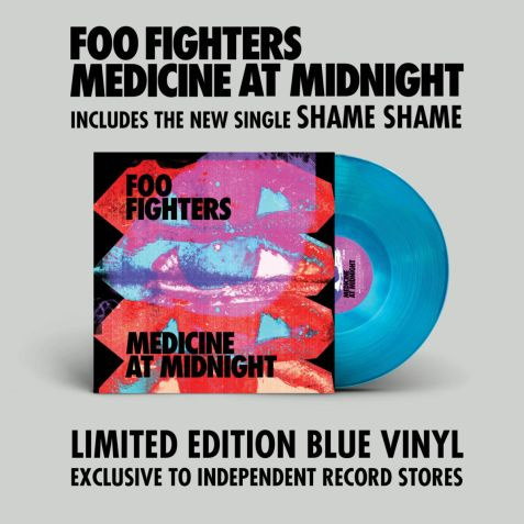 Foo fighters - Medicine at midnight (Indie-only Blue vinyl)