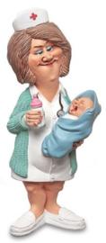 kraamhulp, vroedvrouw, verpleegster met baby, beroep beeldje