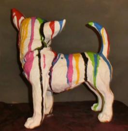 Chihuahua zwart kunstdrup