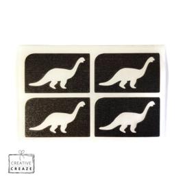 Sjabloon mini - Dino- 4 stuks