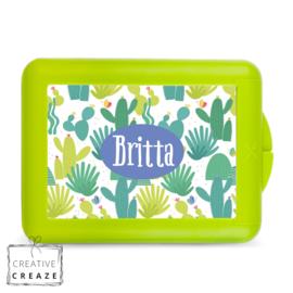 Lunchbox of brooddoos met naam | Cactus | €15,95