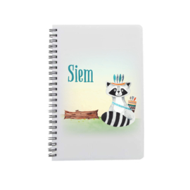 Notitieboek A5 | Stoere wasbeer