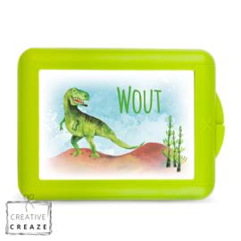 Lunchbox of brooddoos met naam | Dino | €15,95