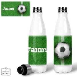 Thermosfles RVS Voetbal gras - 500 ml - Warm en koud - €24,99