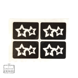 Sjabloon mini - Double Star - 4 stuks
