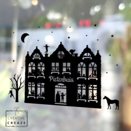 Raamsticker Pietenhuis - herbruikbaar