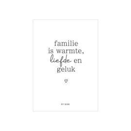Kaart | Familie is warmte, liefde en geluk