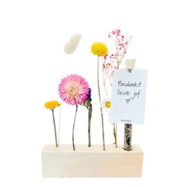 Seeds and Flowers - bloemenstandaard - Bedankt Juf