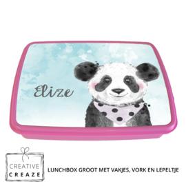 Lunchbox met naam | Panda