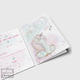 Uitnodigingen | Eenhoorn - Unicorn | 5 stuks