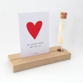Memory Shelf met Droogbloemen en een kaartje | De liefste mama dat ben jij | Moederdag