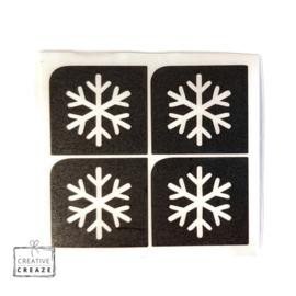 Sjabloon mini - Sneeuwvlok - 4 stuks