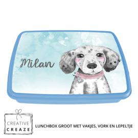 Lunchbox met naam | Puppy - hondje