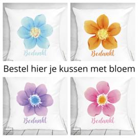 Bestel hier je kussen met bloem - verschillende designs