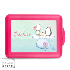 Lunchbox of brooddoos met naam | Walvis en vriendjes | €16,95