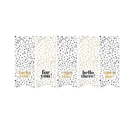 Stickers | Vaantjes Black and Gold Dots