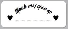 STICKER MAAK MIJ OPEN OP... (DATUM IN TE VULLEN) - CADEAUSERVICE
