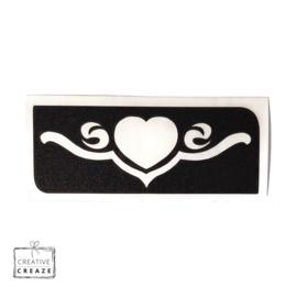 Sjabloon -  Heart Scroll