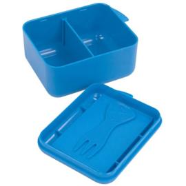 Koekendoosje of snackbox met naam | Blauw | Lichte krasjes