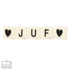Letterkaarsjes - ♡JUF♡