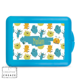 Lunchbox of brooddoos met naam | Monstertjes | €15,95
