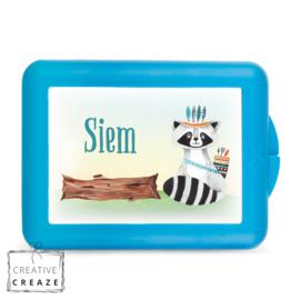 Lunchbox of brooddoos met naam | Stoere wasbeer | €15,95