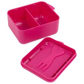Koekendoosje of snackbox met naam | Roze | Lichte krasjes