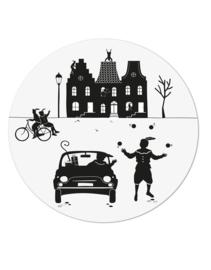 Muurcirkel Sinterklaas tafereeltje - 20cm