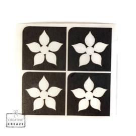 Sjabloon mini - Bloem 2 - 4 stuks
