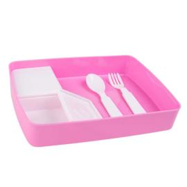 Lunchbox met naam | Pink Bubbles