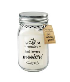 Black & White scented kaars - Jij maakt het leven mooier