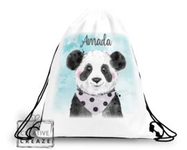 Turn- of zwemzak met naam | Panda
