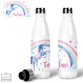 Thermosfles RVS Rainbow Unicorn - 500 ml - Warm en koud - €24,99